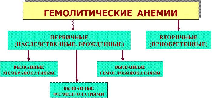 причины гемолитической анемии